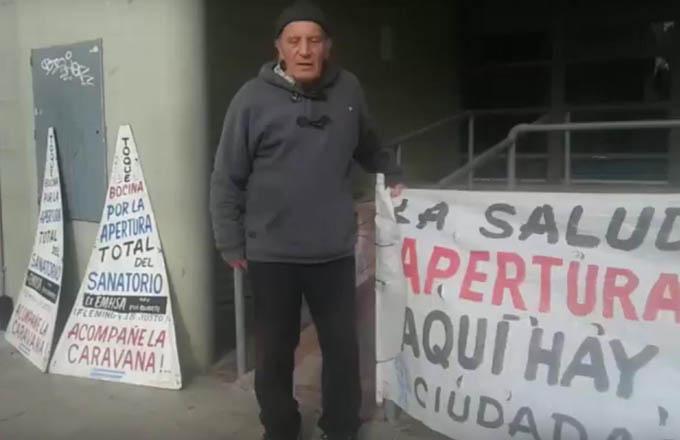 Jubilado exige la reapertura del sanatorio Eva Duarte