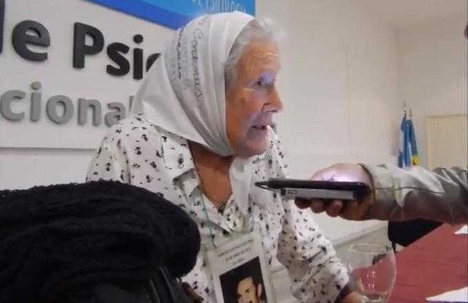 Nora Cortiñas cerró la Jornada contra la violencia institucional